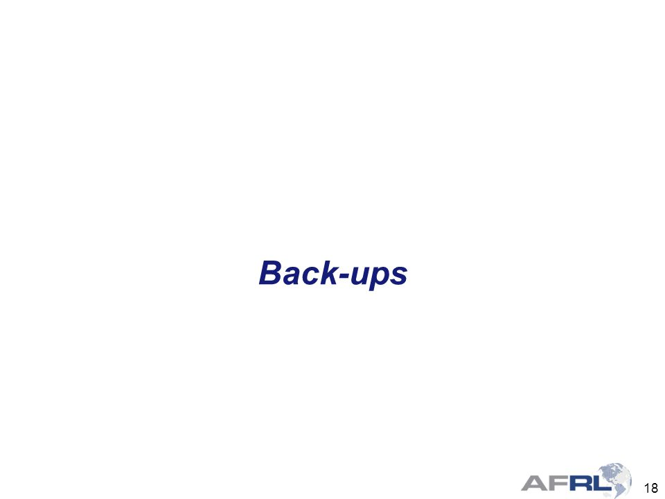 18 Back-ups