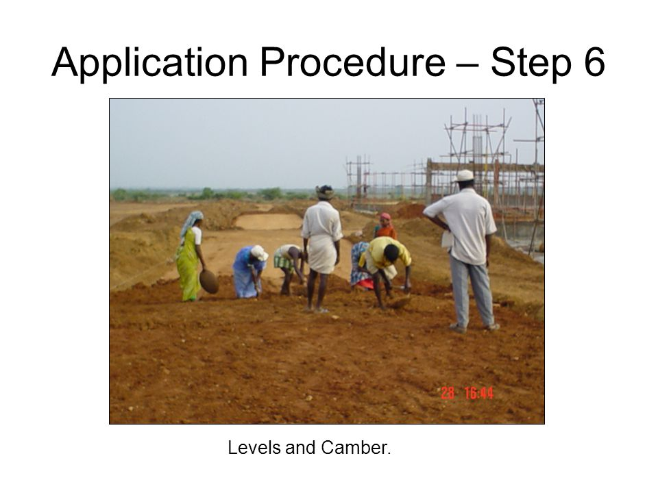 Levels and Camber. Application Procedure – Step 6