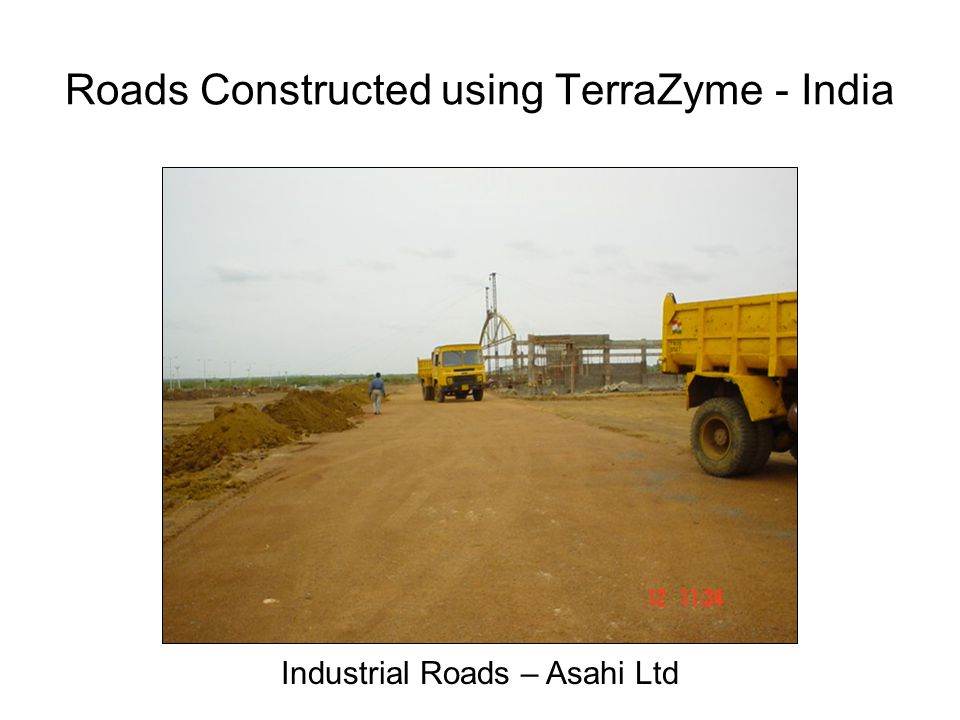 Roads Constructed using TerraZyme - India Industrial Roads – Asahi Ltd