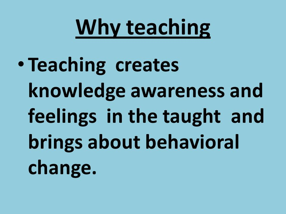 L3. PROCESS OF TEACHING