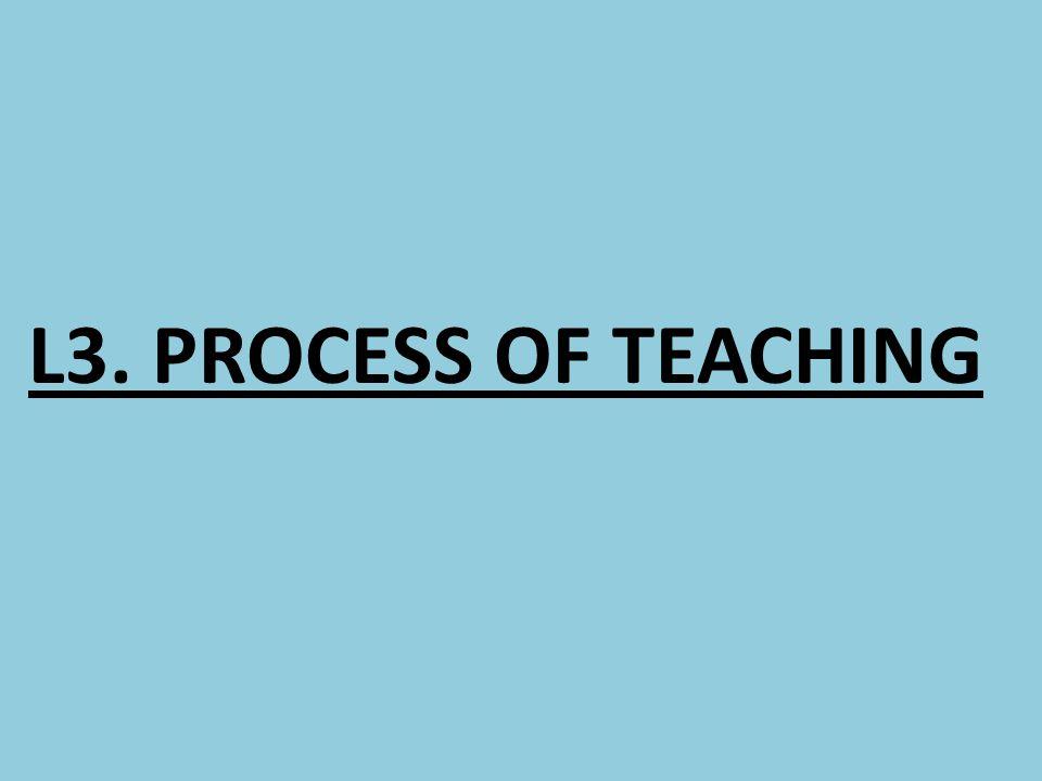 L3. PROCESS OF TEACHING