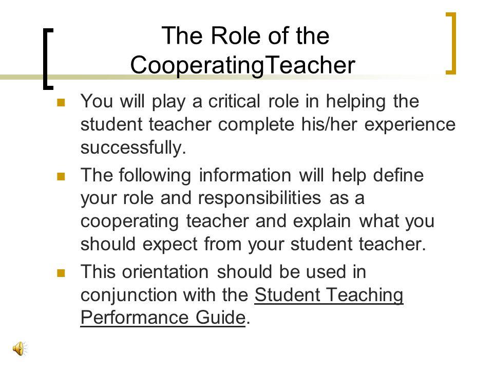 Cooperating Teacher Orientation James Madison University Education Support Center