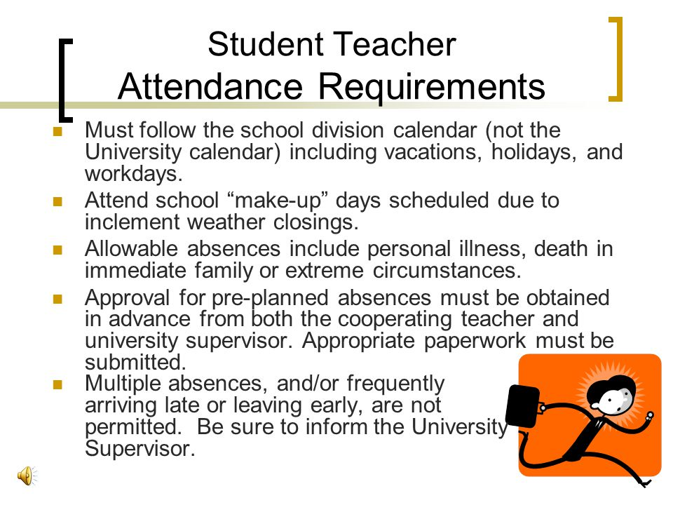 The Initial School Visit Learn about your student teacher. Share your own experiences, skills, interests, and expectations. Topics for discussion migh