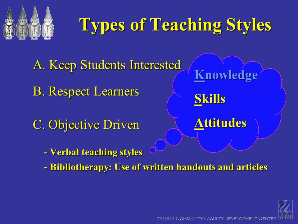 A.Keep Students Interested B. Respect Learners C.