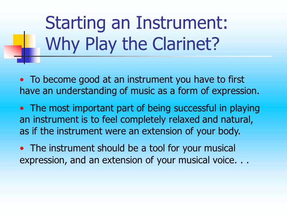  The clarinet has a wide range, as shown below.