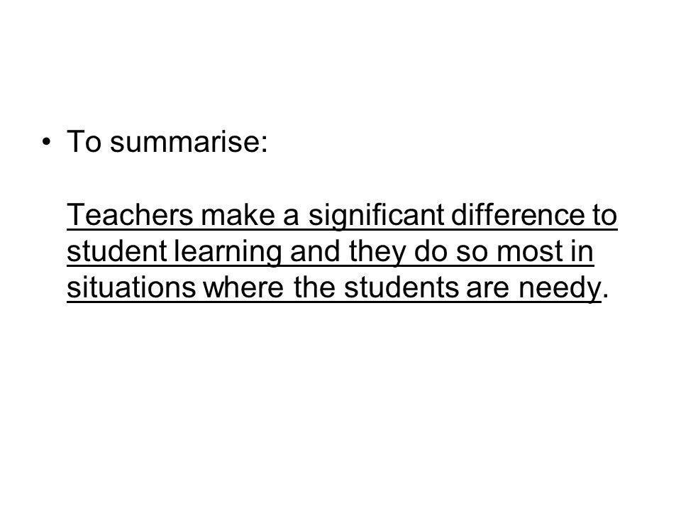 Characteristics of quality teachers.