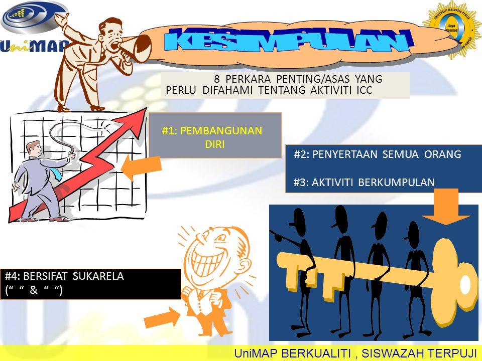 UniMAP BERKUALITI, SISWAZAH TERPUJI #6: MENGGUNAKAN TEKNIK QC 8 PERKARA PENTING/ASAS YANG PERLU DIFAHAMI TENTANG AKTIVITI QCC #5: