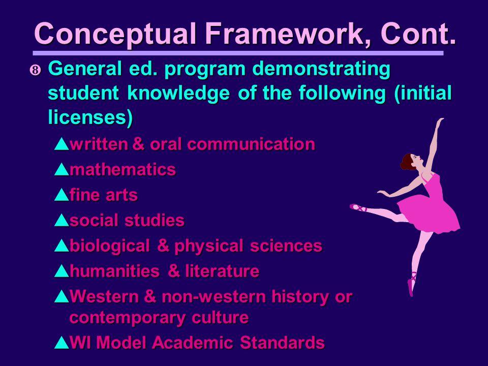 Conceptual Framework, Cont. ½ General ed.