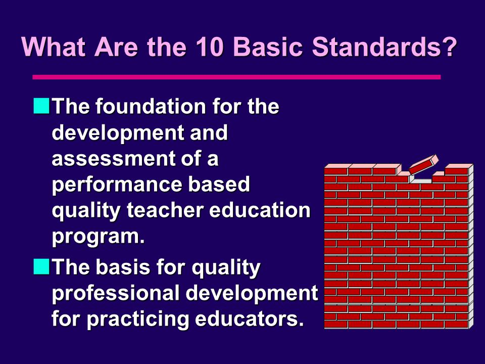 What Are the 10 Basic Standards.