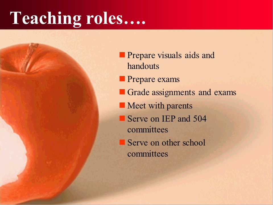 Teaching roles….