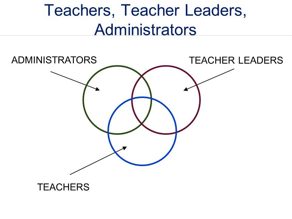Teachers, Teacher Leaders, Administrators ADMINISTRATORS TEACHERS TEACHER LEADERS