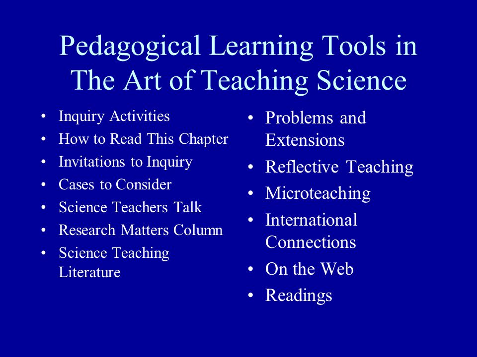 Pedagogical Tools