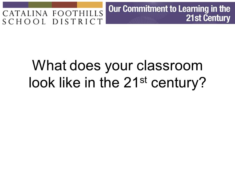 What does your classroom look like in the 21 st century?