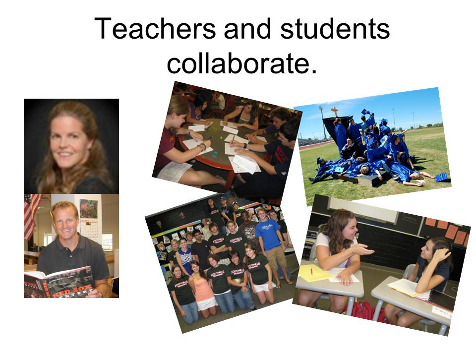 Teachers and students collaborate.