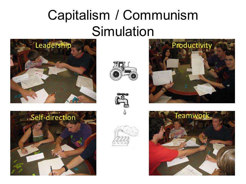 Capitalism / Communism Simulation ProductivityLeadership Self-direction Teamwork