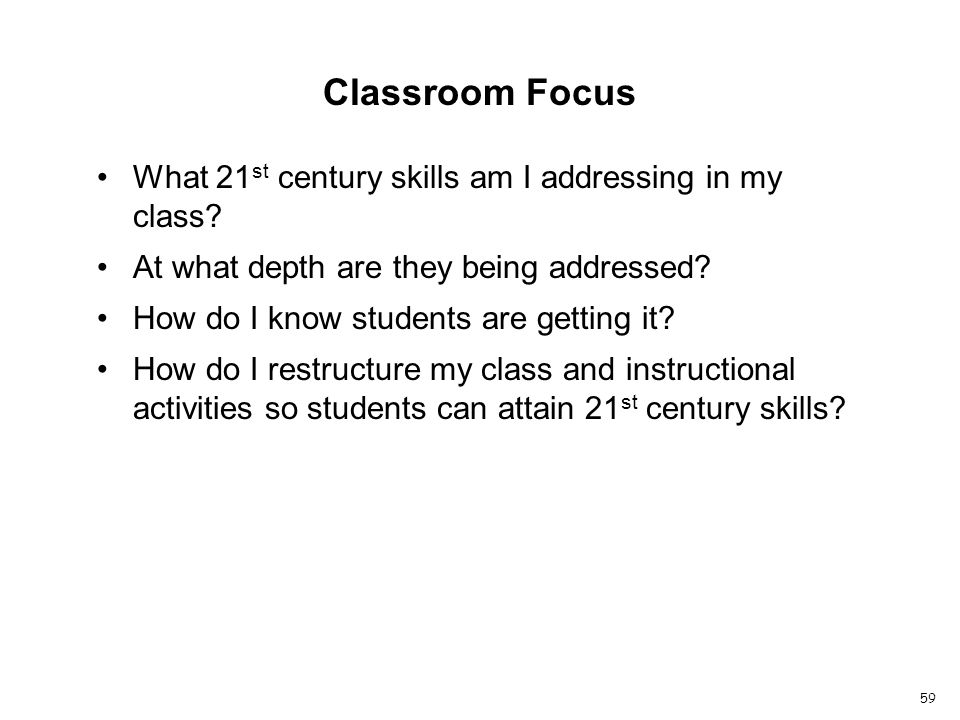 What 21 st century skills am I addressing in my class.