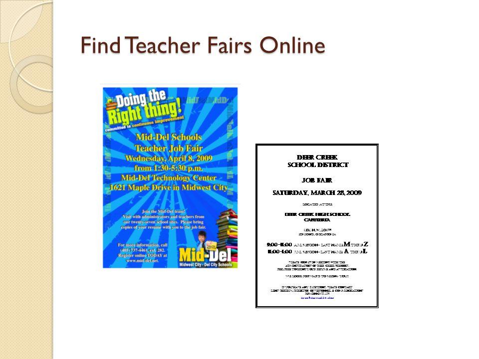 Find Teacher Fairs Online