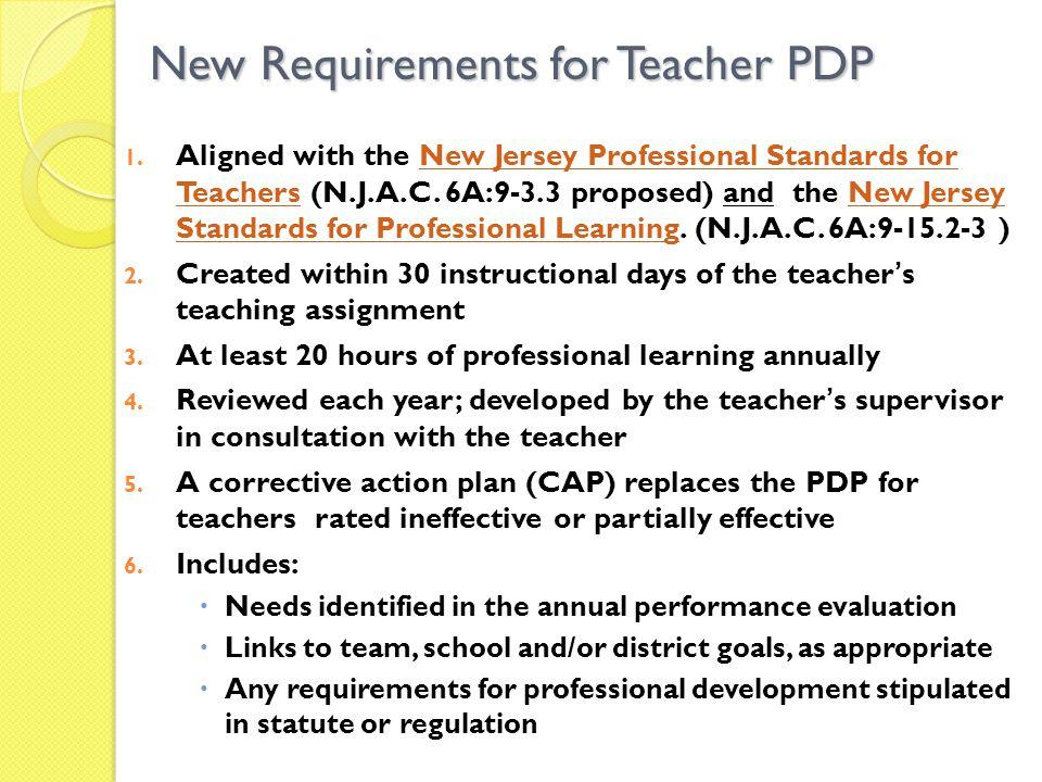 Optional Teacher PDP Template Plan Sections: I.