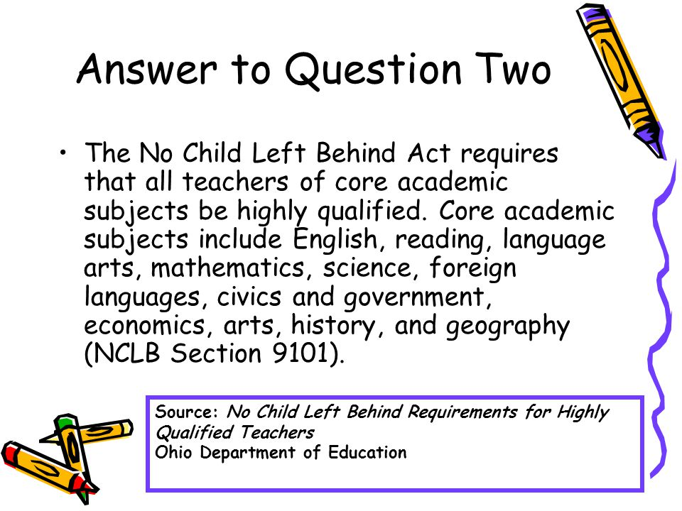 Answer to Question Four The Ohio Department of Education has created an information packet to answer this question.
