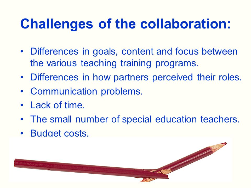 Differences in goals, content and focus between the various teaching training programs.