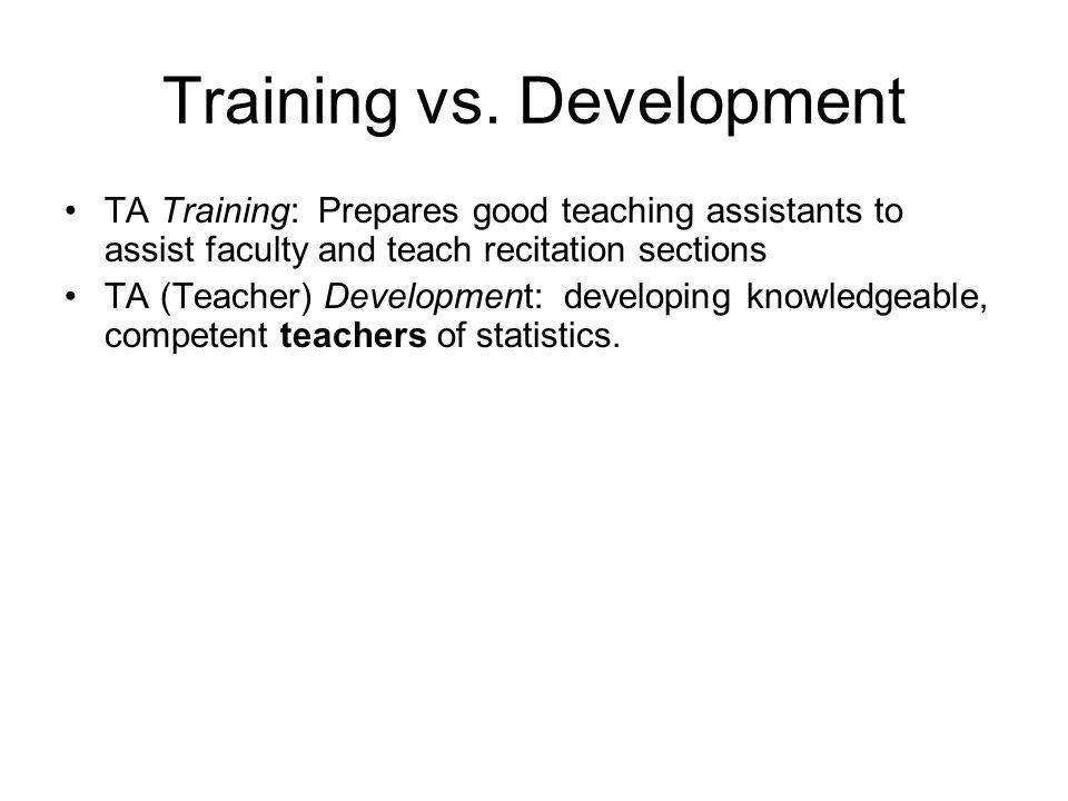 Training vs.