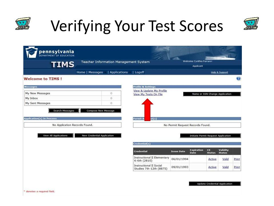 Verifying Your Test Scores
