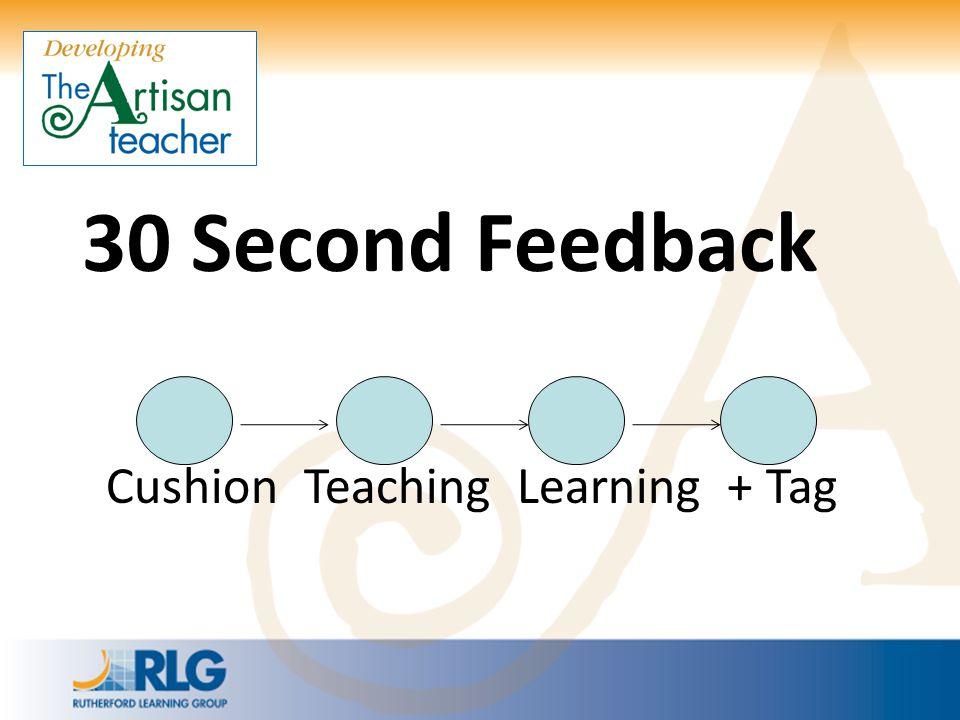 30 Second Feedback Cushion Teaching Learning + Tag