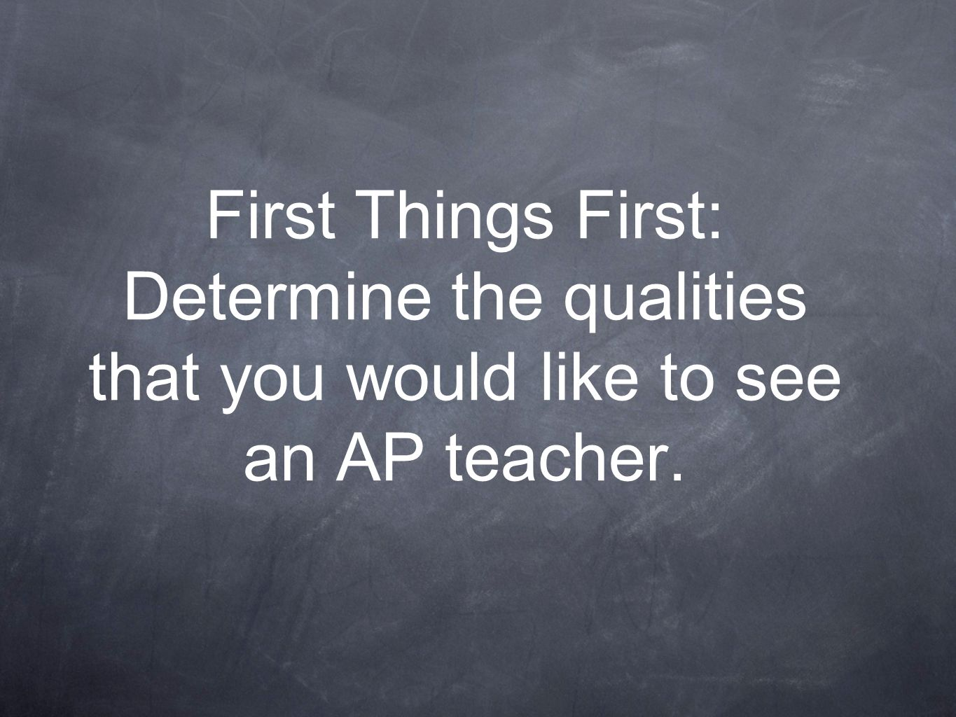 Question 4: If you were required to be mentored as a new AP teacher, which would you like to have input on.