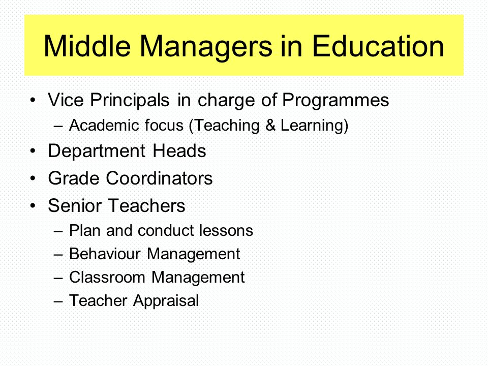 Questions to Consider What do you look for when you're appraising teachers.
