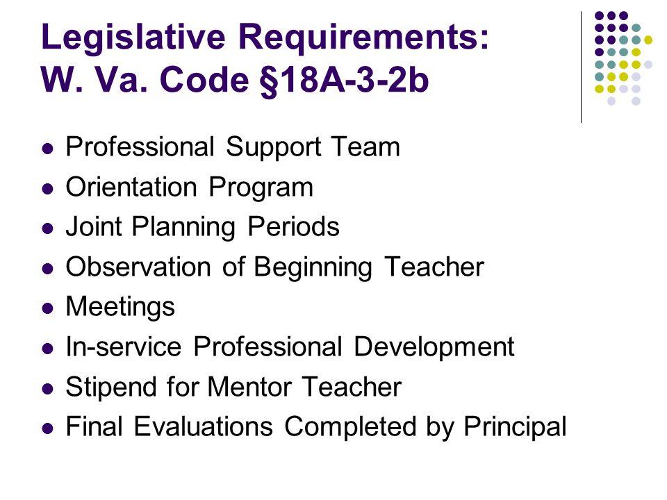 Legislative Requirements: W. Va.