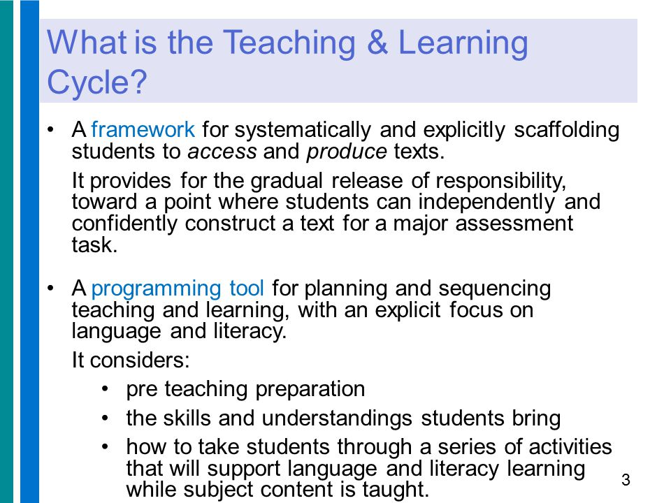 The TLC is based on understanding the central role of language in learning Lev Vygotsky saw the central role language plays in learning recognised importance of interaction with a more expert other developed the notion of the zone of proximal development (ZPD) argued that learning is maximised when students are supported to work in the upper limits of their ZPD believed that what a student can do with help today, s/he can do independently tomorrow.