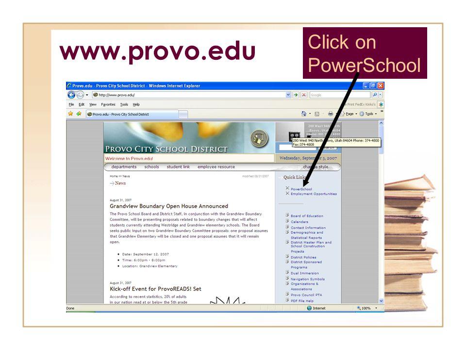 Click on PowerSchool