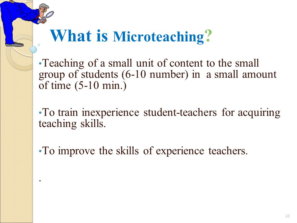 What is Microteaching .