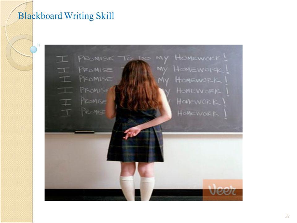 Blackboard Writing Skill 22