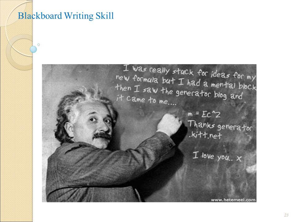 Blackboard Writing Skill 23