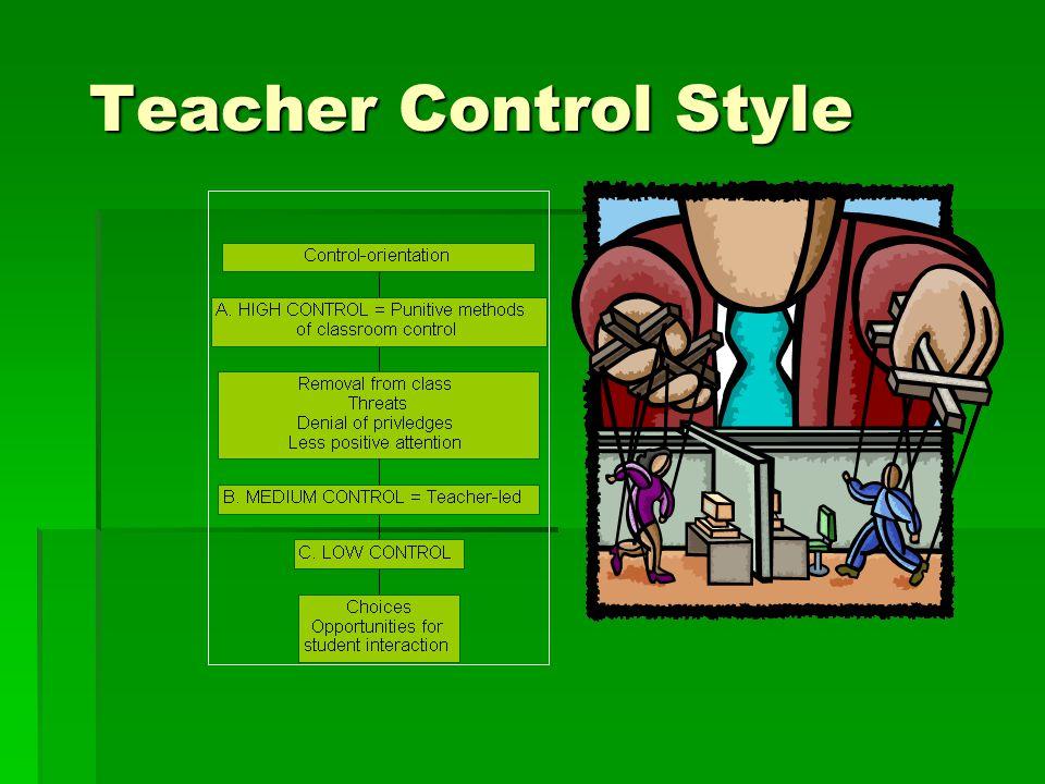 Teacher-Control Style