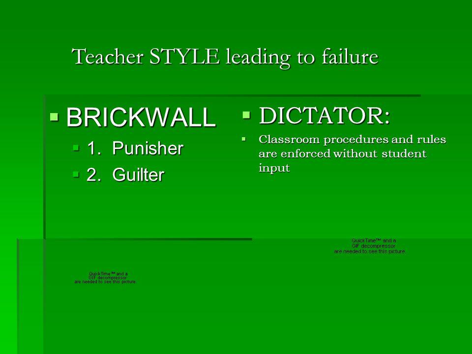 Teacher Control Style