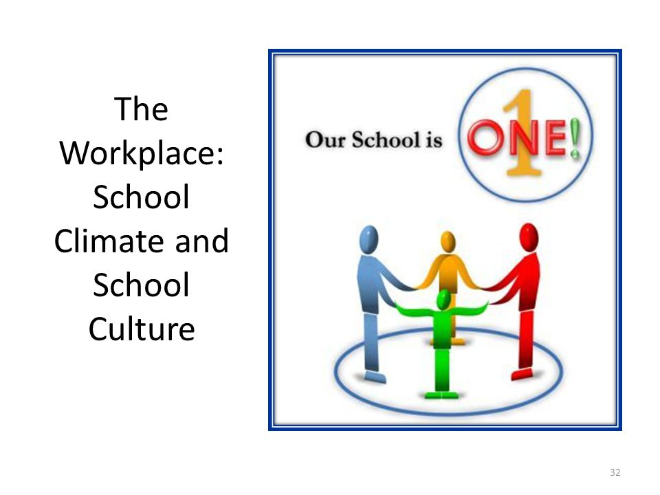 The Workplace: School Climate and School Culture 32