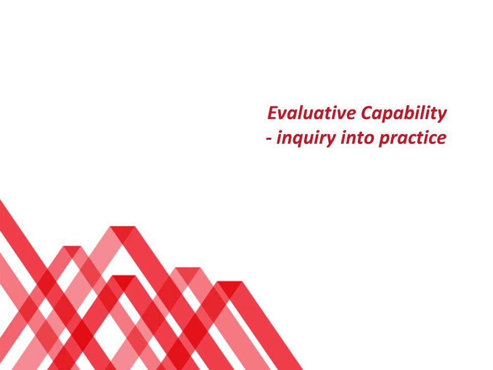 Evaluative Capability - inquiry into practice