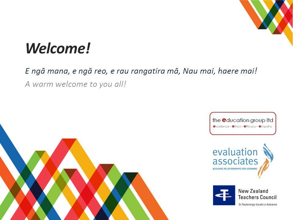 Welcome! E ngā mana, e ngā reo, e rau rangatira mā, Nau mai, haere mai! A warm welcome to you all!