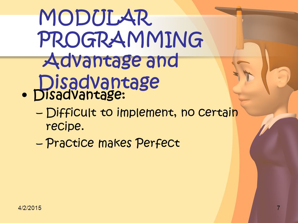4/2/2015ABR team presentation8 MODULAR PROGRAMMING Tips to write module Flexible to be used by other modules Do not put together a few modules into one big one.