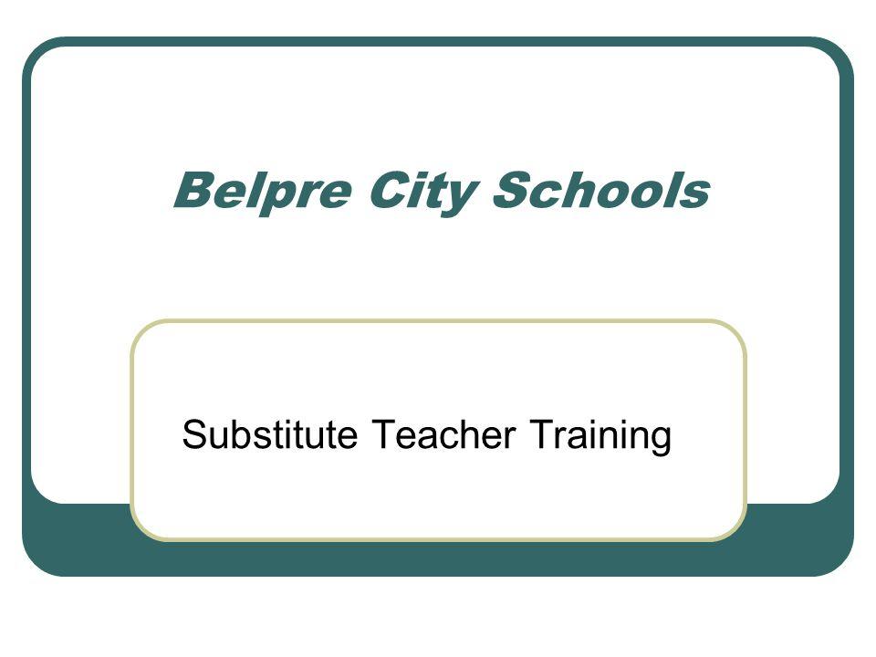 Belpre City Schools Substitute Teacher Training
