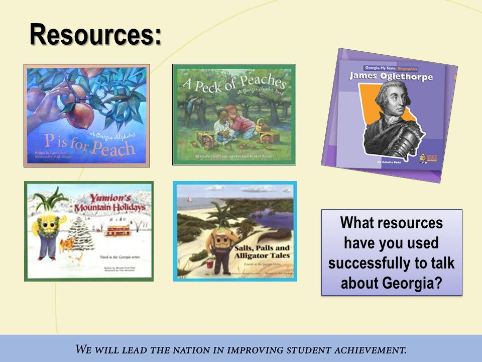 Resources: What resources have you used successfully to talk about Georgia?