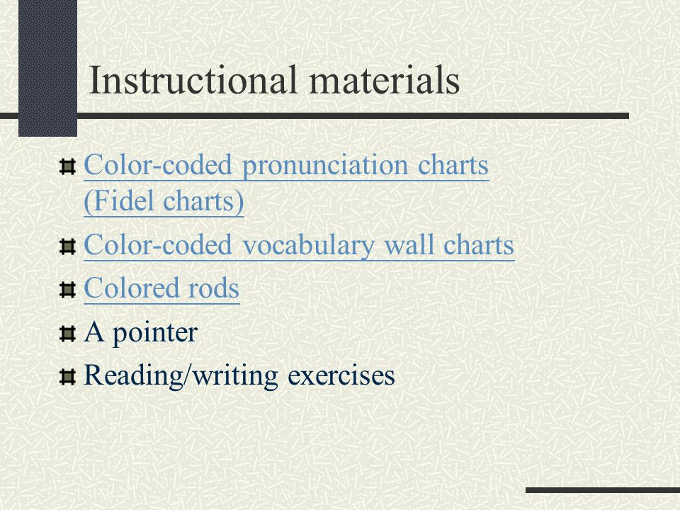 The syllabus Structural syllabus Language items The imperative Numeration and prepositions of location Vocabulary