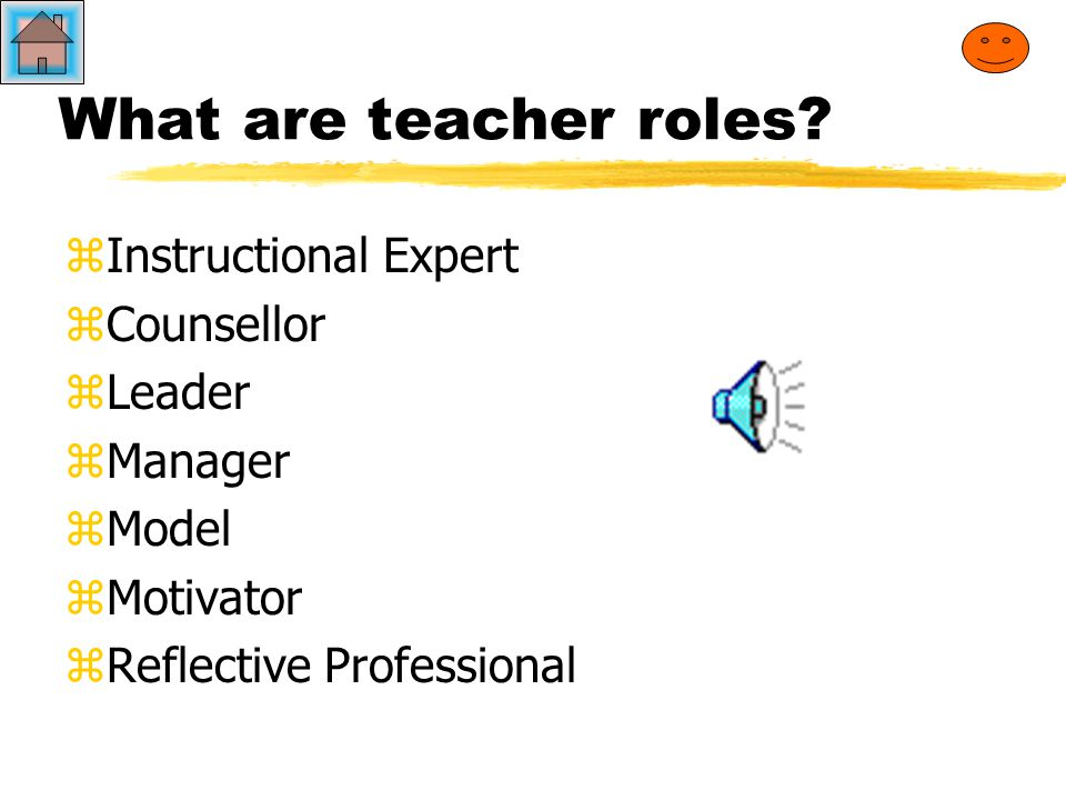 What do you consider to be the ROLE of the teacher.