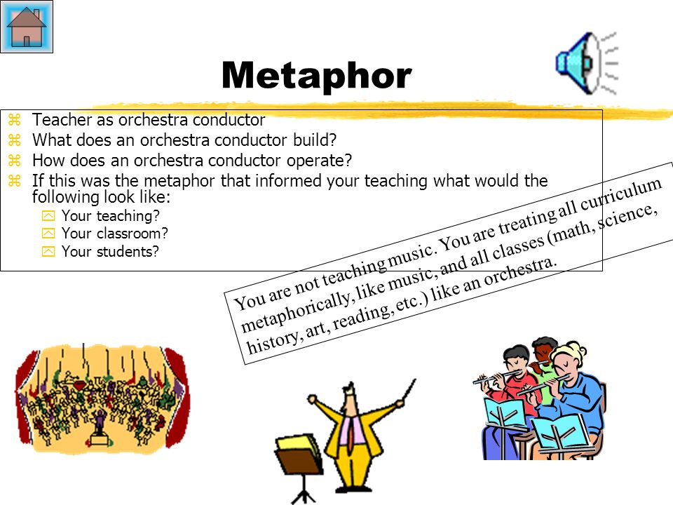 Metaphor Teacher as Builder