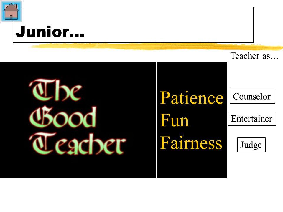 A child's metaphor for the teacher… the good teacher.