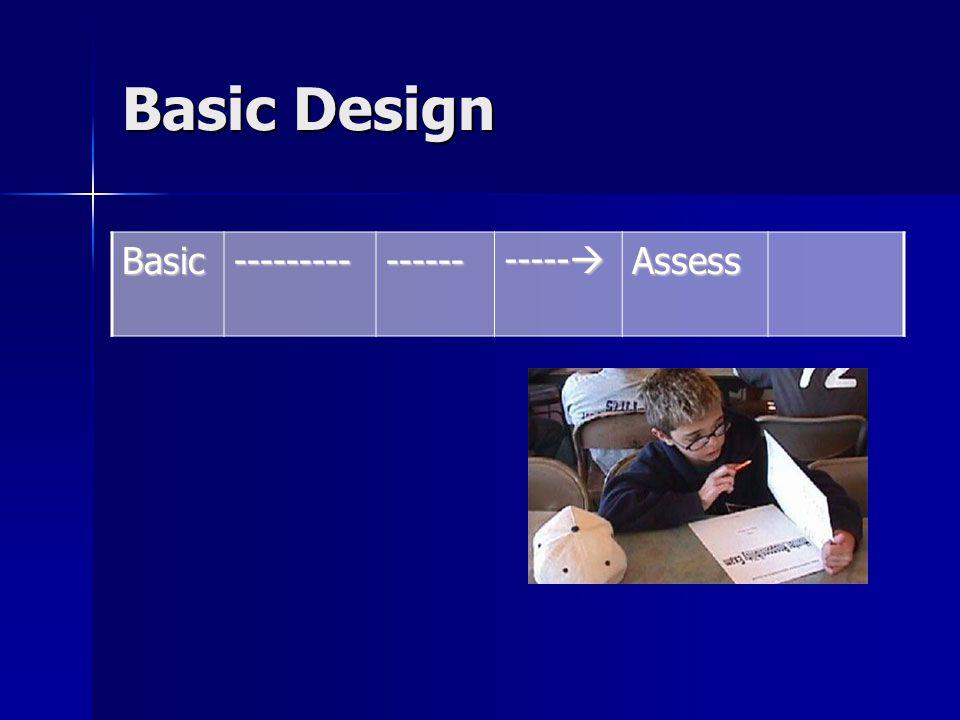 Basic Design Basic--------------- -----  Assess