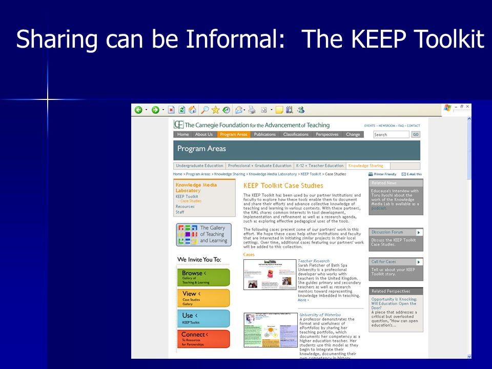 Sharing can be Informal: The KEEP Toolkit
