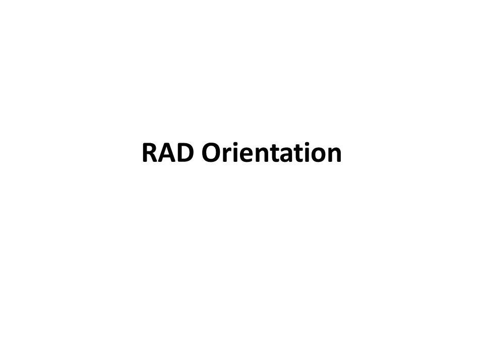 RAD Orientation
